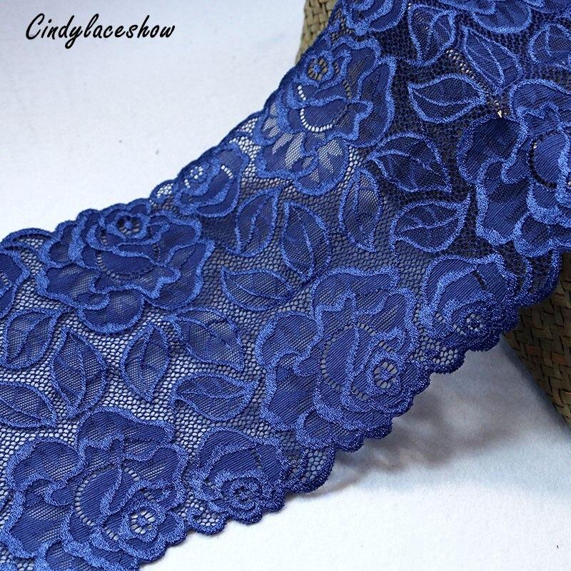 "laverslace Quality Ivory Wide Stretch Tulle Lace Trim 9.25/""//23.5cm"