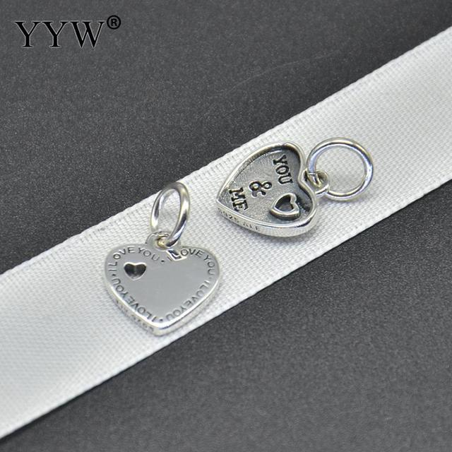 Authentic 925 Sterling Silver Symbol Of Trust Love Heart Necklace