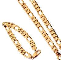 18k Yellow Gold Plated Jewelry Sets 60cm 10mm With Classic Style For Factory Price