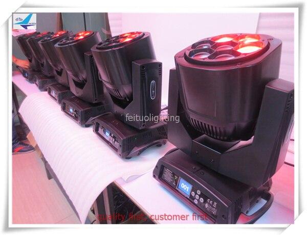 4pcs/lot High Power 7x15w Bee Eye Zoom Moving Head Wash Beam Pixel Disco Stage Lights RGBW 4IN1 Osram Zoom LED Beam DJ Lighting