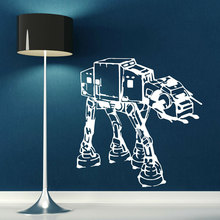 Star Wars Movie Character All Terrain Armored Transport AT-AT Vinyl Wall Decal Anime Movie Fans Home Decor Wall Sticker DY27 цена