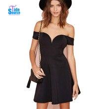 TideSource Sexy off Shoulder Strapless Club Party Dresses 2017 Spring Summer Elegant Slim Women Dress Black A-line Mini Vestidos