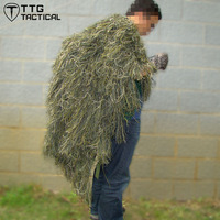 TTGTACTICAL Sniper Ghillie Poncho Camouflage Tactical Sniper Ghillie Cape Woodland & Desert