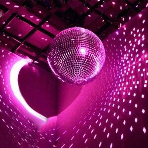 Image 4 - Thrisdar Dia25CM 30 CM Roterende Reflectie Glas Spiegel Disco Bal Met Motor en 10 W RGB Beam Pinspot DJ Thuis party Stage Licht