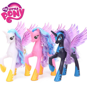 Image 2 - 22cm My Little Pony Toys Princess Celestia Glitter Luna Rainbow Dash Princess Cadance PVC Action Figures Collectible Model Dolls