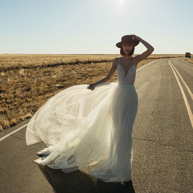 Verngo Elegant Backless Evening Dress Long Summer Vacation V neck Party Dresses Custom Size Abiye Gece Elbisesi in Evening Dresses from Weddings Events