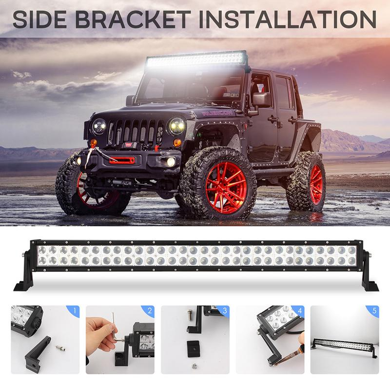 Car LED Work Light Bar Off road 120W 200W 300W Vehicle Roof Lamp High Brightness Spotlights Floodlights Automobile Fog Lights