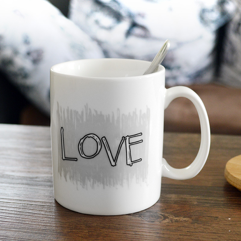 Permalink to drinkware 1Pcs Fashion ceramics Love story style Color Change mug high quality Drink ware Coffee milk water mugs Free shipping
