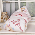 Autumn Winter Thicken Baby Blanket Envelope for Newborn Super Soft Bear Rabbit Blanket Cotton Swaddle Manta Infant Wrap BB054