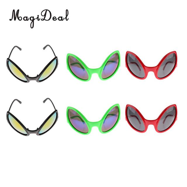 487766e9b64 MagiDeal Pack of 6pcs Fashion Red Green Black Alien Sunglasses Kids Adults  Party Fancy Dress Costume Eyeglasses Accessories