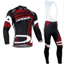 Hot in winter 2016 ORBEA bike red tights Ciclismo long bicycle clothing long cycle jersey cycling shirt wear a shirt