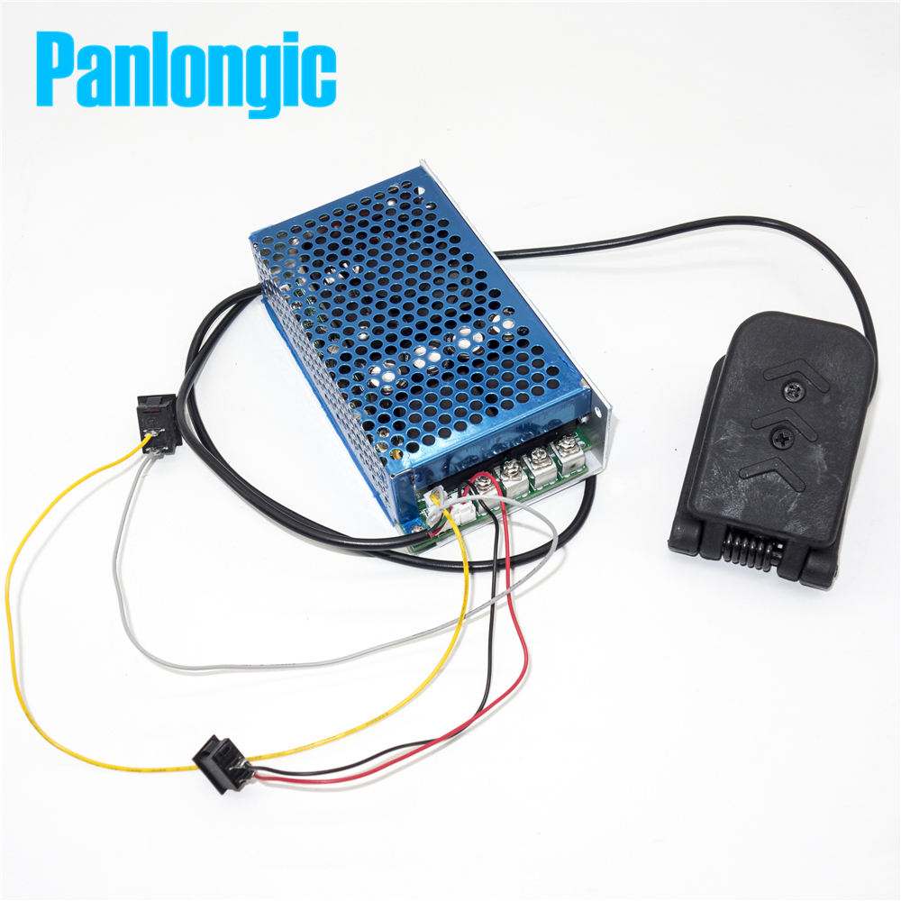 Panlongic Footboard Hall Throttle 100A 5000W Reversible PWM DC Motor Speed Controller 12V 24V 36V 48V Soft Start Brake large torque dc 12v 40v pwm motor speed controller reversible control switch