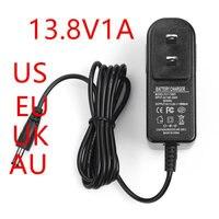 Новый 100 шт. eu/us/uk/au plug100 240VAC 13,8 В 1A Мощность adapter13.8V1000mA адаптер