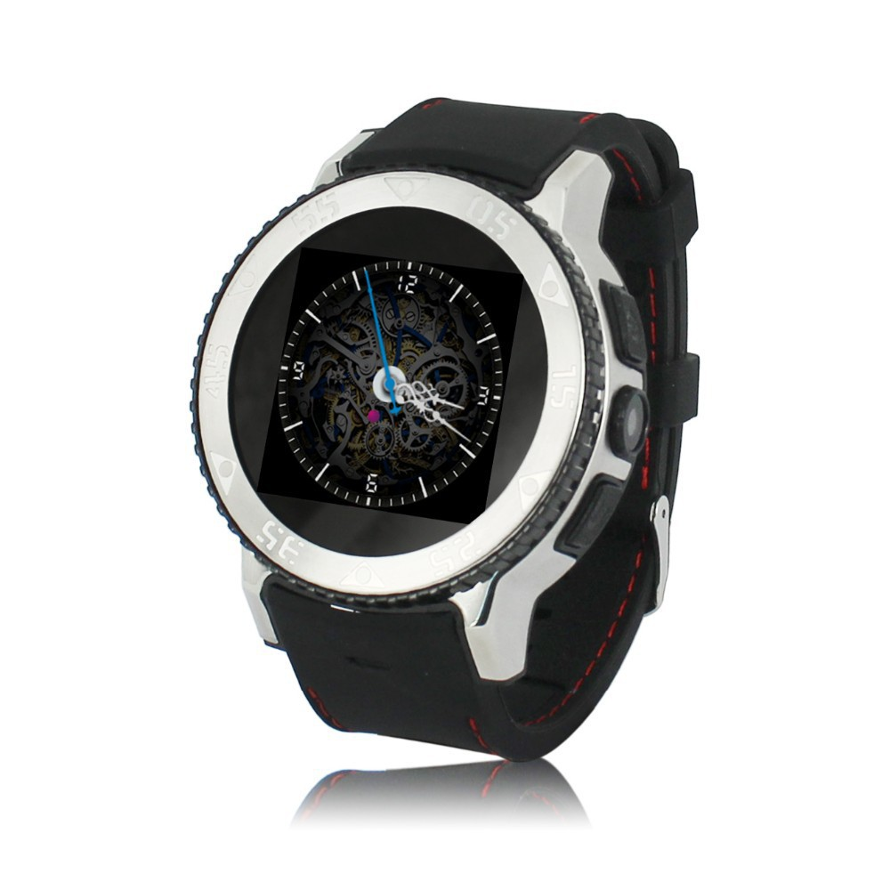 Men Luxury Round Stainless Steel 3G Dual Core Android Wear ...