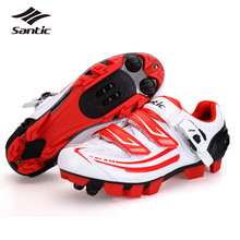Santic 2018 Pro Cycling Shoes Women Bicycle Breathable MTB Athletic Shoes Self Locking Mountain Bike Shoes Zapatos De Ciclismo