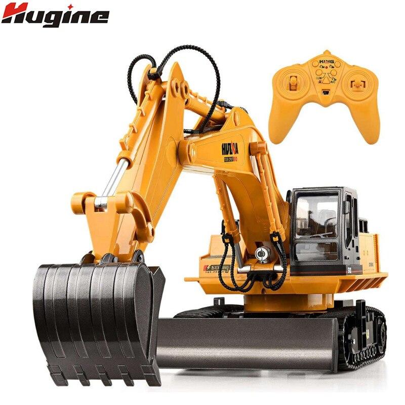 RC camion 11CH pelle alliage 2.4G Backhoes Bulldozer télécommande Digger ingénierie véhicule modèle électronique enfants passe-temps jouets