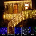 Christmas LED Lighting Strings 3M x 3M Outdoor Home Decorative xmas String Fairy Curtain Garlands Party Lights For Wedding