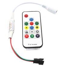 C5 sp103e мини РФ контроллер с 14keys беспроводной пульт дистанционного управления для DC5V WS2812 DC12V WS2811 Мечта Цвет Светодиодные ленты свет