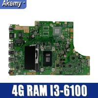 TP501UA материнская плата с 4G Оперативная память I3 6100 Процессор для ASUS TP501UA TP501U TP501UQ TP501UAM TP501UAK TP501UJ ноутбук материнская плата версия 2,0