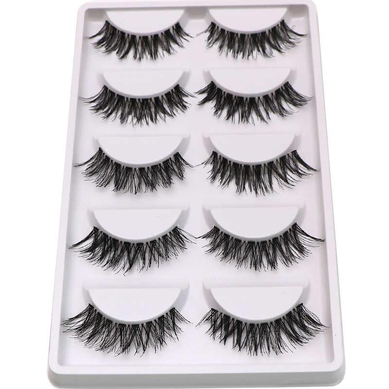 2332deb8873 30Pairs Fake Lashes Soft Natural False Eyelashes Extension Makeup Tool  Volume Crisscross Long False Eye Lashes