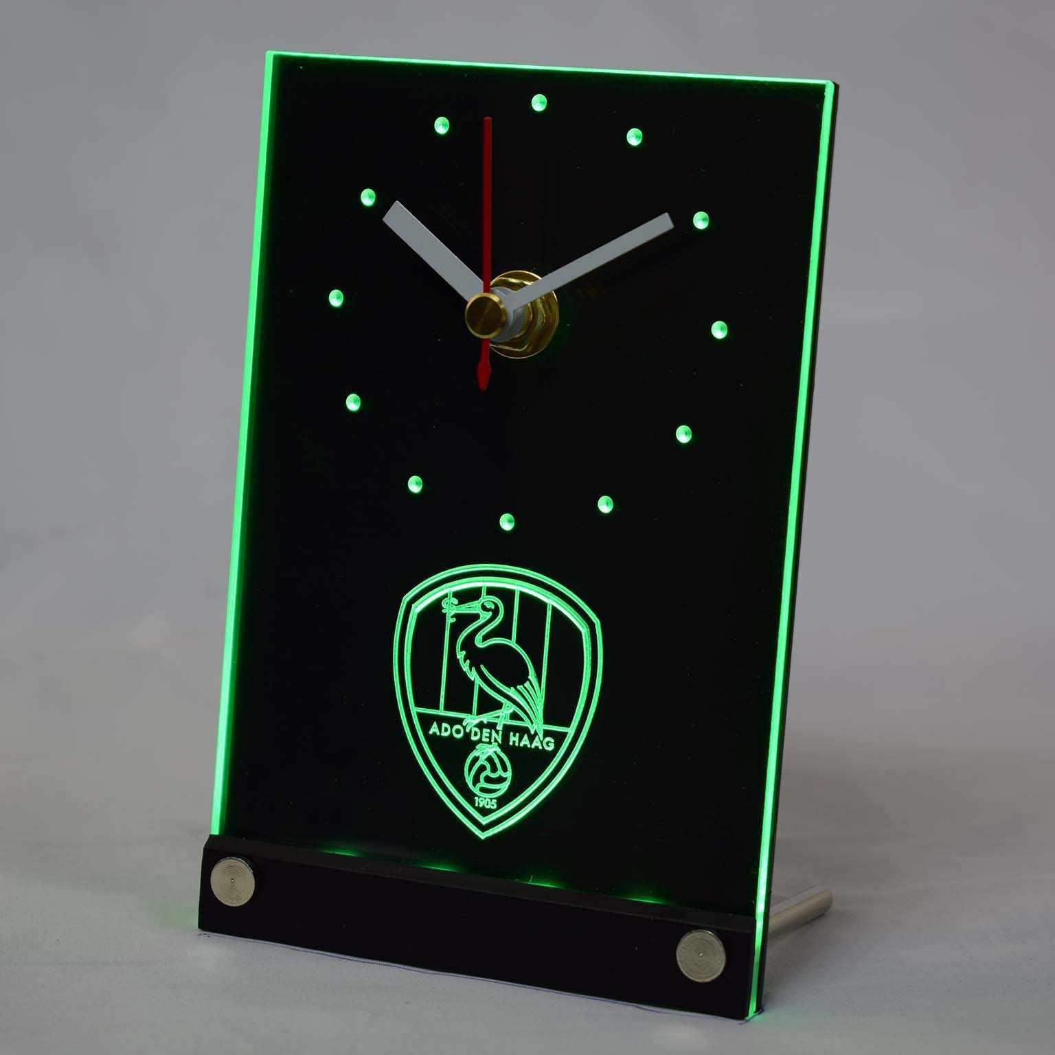Tnc1006 Ado Den Haag Eredivisie 3d Led Table Desk Clock 3d Led Clock 3d Clockclock 3d Aliexpress