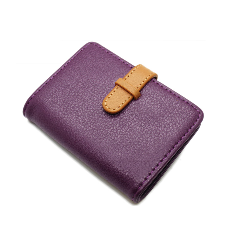 c2d64f00ad0 pu leather porte carte credit card wallet women female girl business card  holder card business folder manager for plastic cards-in Card   ID Holders  from ...