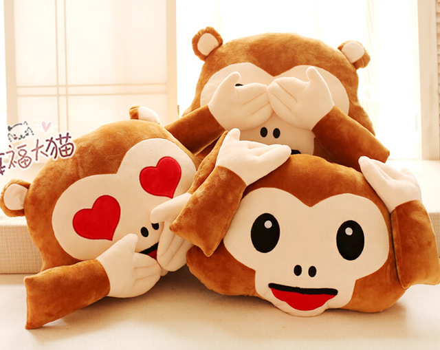 Candice guo plush toy stuffed doll cartoon funny monkey baby rest blanket sofa cushion pillow creative birthday christmas gift candice guo creative plush toy funny exaggerated expression two sides spoof shiba dog cushion pillow birthday christmas gift 1pc
