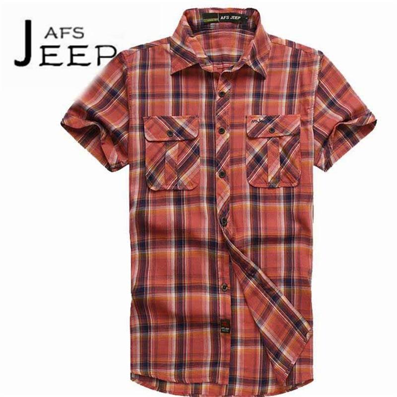 JI PU Wholesale Price Mans mens see through shirts,Informal rayas de manga corta de los hombres blusas,Red/Blue Striped shir