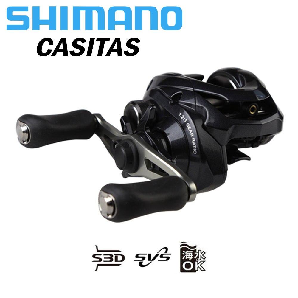 SHIMANO mulinello Da Pesca CASITAS 150/150HG/151/151HG bobina di Baitcasting 6.3/7.2 4 + 1BB di Alimentazione resistenza del corpo Liscio luce bobine di pesca