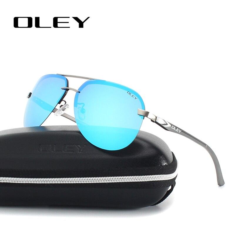 OLEY Aluminium Et De Magnésium Polarisées lunettes de Soleil Hommes Pilote Miroir lunettes de Soleil De Pêche Mâle Femelle Lunettes Pour Hommes YA143