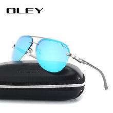 OLEY Gafas de sol polarizadas de aluminio y magnesio gafas de sol con espejo para hombre y mujer, lentes de sol con espejo, para pescar, YA143