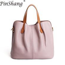 PinShang Women Handbag Fashion Genuine Lether Satchel Handbag Single Shoulder Oblique Cross Bag Fashion Bags for Women 2018 Z40