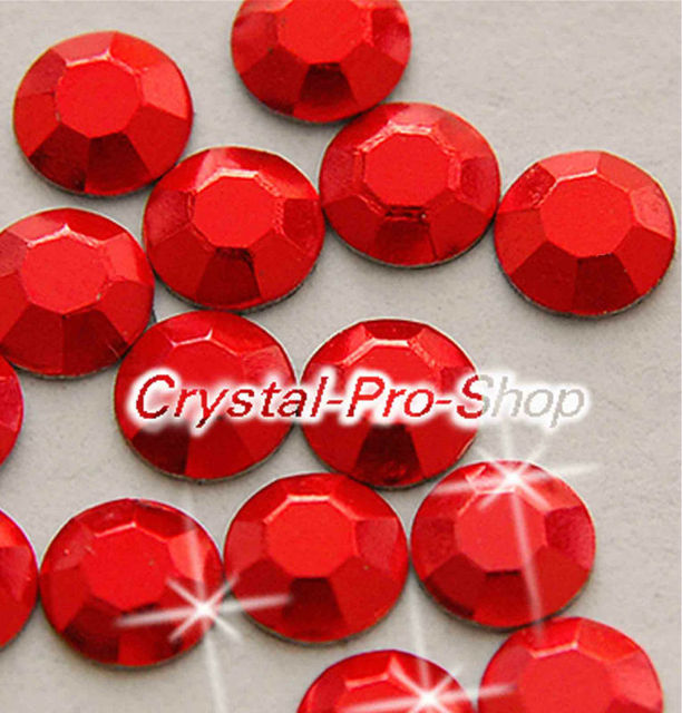 1440 pieces Red Siam 3mm 10ss ss10 Faceted Hotfix Rhinestuds Iron On Round Beads Aluminium Metal Design Art (u3m-Red-10 gr)