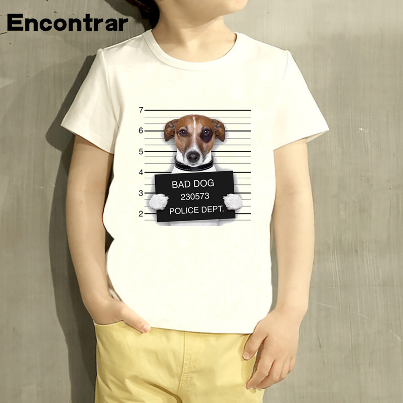 Childrens Bad/Pug French Bulldog Funny Design Baby Boys/Girl T Shirt Kids Funny Short Sleeve Tops Children Cute T-Shirt,HKP2017