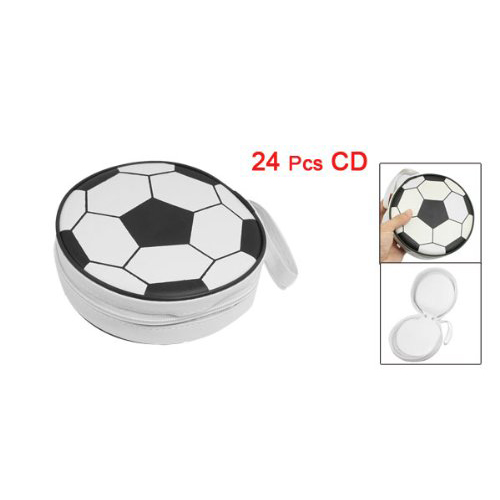 PHFU 24 Disc CD DVD Wallet Holder DJ Storage Case Bag Album Black White