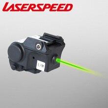 20 мм Регулируемый лазерный прицел с зеленой точкой для рельсового пистолета Glock 17 19 22 Пневматический пистолет Винтовки