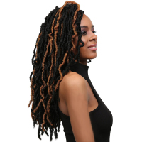 Nu Locs Curly Crochet Braid Hair Extensions 8packs/lot 14inch 18inch 1B# Freetress Synthetic Hair For Braid Toyotress Hair