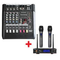 Freeboss pt5 usb аудио смеситель + ku 22a 2 варианта металла ручной Беспроводной микрофон