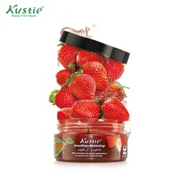 Kustie Moisturizing Exfoliating Body Scrub With 100 Natural Strawberry Seed Granules 200ml