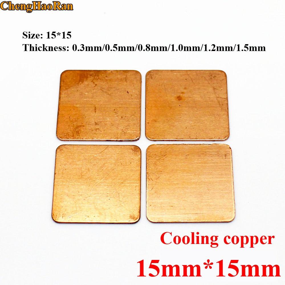Rarido Heatsink Copper Shim Thermal Pads for Laptop GPU CPU VGA 30Pcs 15mmx15mm