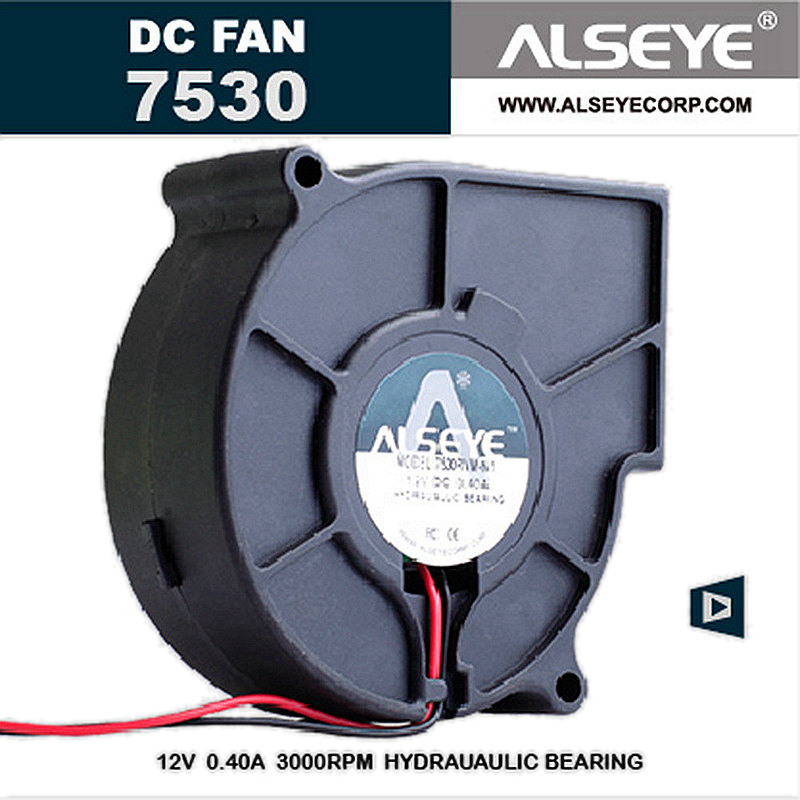 ALSEYE 75mm Blower Fan 12v 0.3A 3000RPM DC Cooling Fan Cooler, Electrical Appliances Radiator Fan 75x75x30mm цена и фото