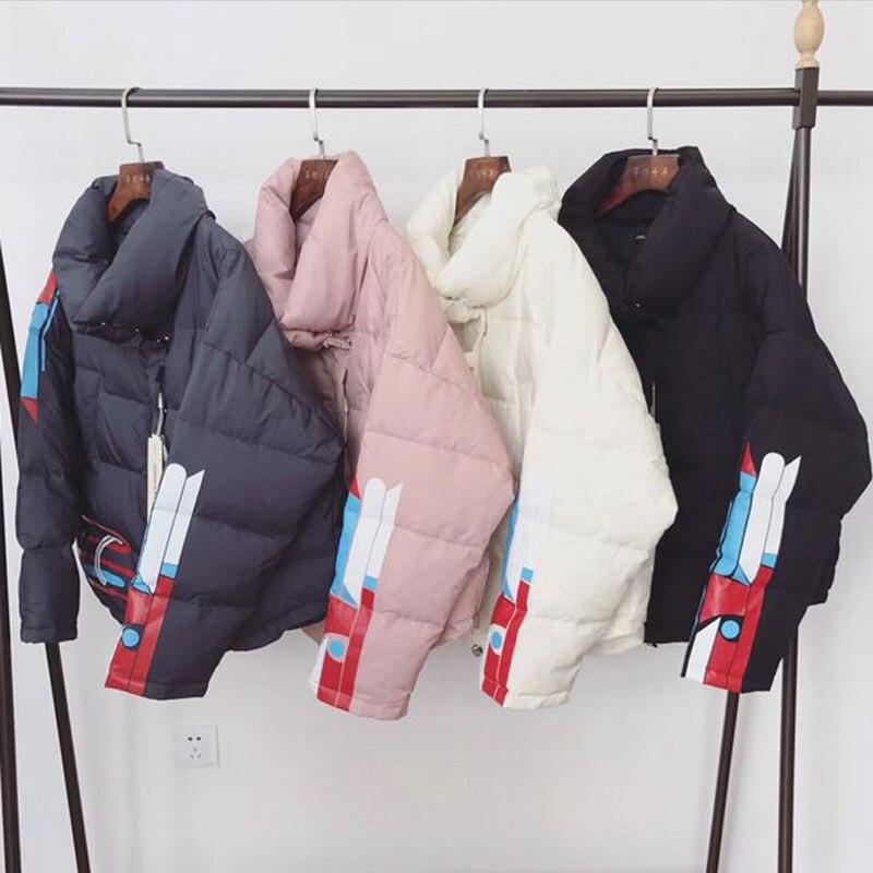 2018 Women White Duck Down Jacket Long Sleeve Winter Jacket Women Short Loose Coats Brand Thick Warm Parka Large Size Jackets