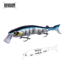 Kingdom Multi Jointed Fishing lures 2019 New 120mm Floating Minnow Swimbait Trout Wobblers Soft T-tail Hard Baits Tackle