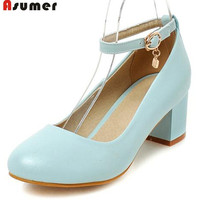 Charm Large Size 34 43 Party Prom Shoes Women Pumps High Heels Summer Pu Soft Leather