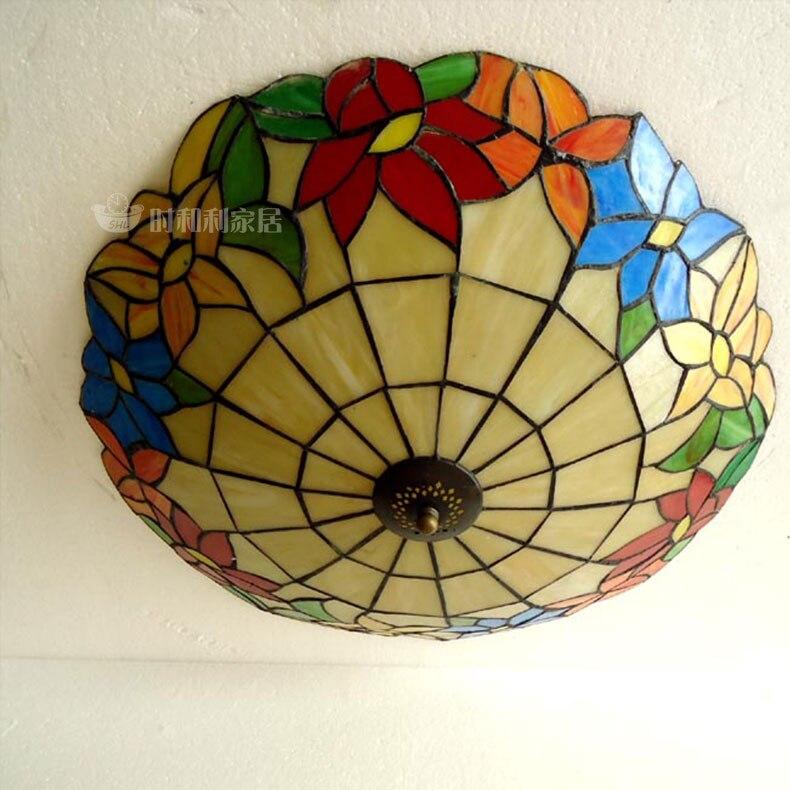 eenvoudige bloem mooie europese mediterrane tiffany plafond