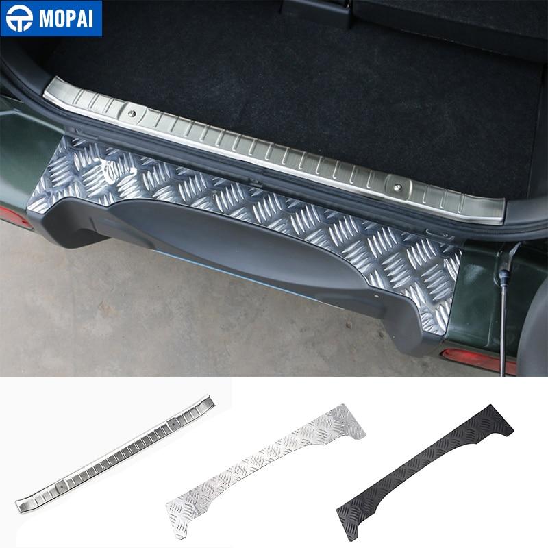 MOPAI Steel Door Sill Scuff Plate Car Interior Rear Bumper Protector Rear Inner Guard Plate for