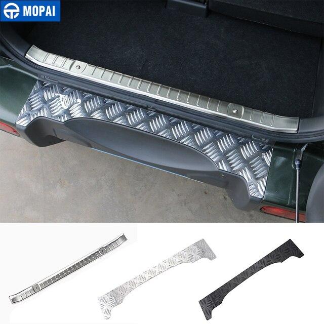 MOPAI Stahl Tür Schwellen verschleiss Platte Auto Innen Hinten Inneren Schutz Platte für Suzuki Jimny Auto Zubehör