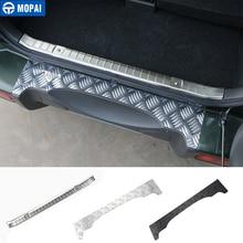 MOPAI Steel Door Sill Scuff Plate Car Interior Rear Bumper Protector Rear Inner Guard Plate for Suzuki Jimny Car Accessories