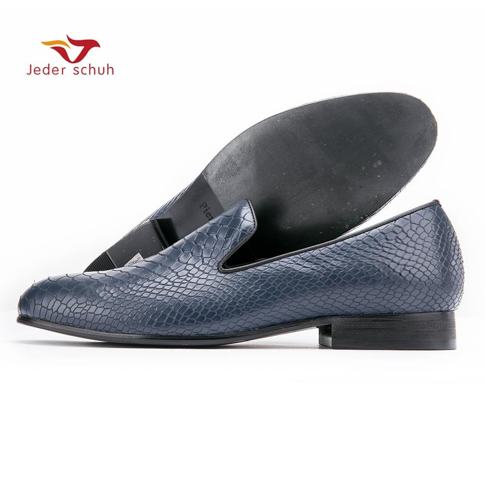 män loafers läder skor design enkel box präglade bröllopsskor