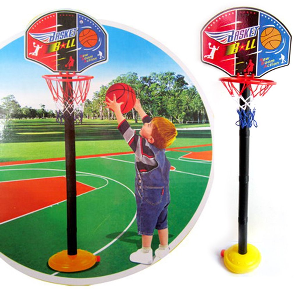 Children Basketball Stand Adjustable Outdoor Indoor Sports Portable Basketball Hoop Toy Gift Set Stand Ball Backboard Kit